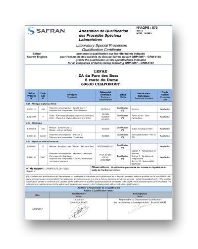 Reconnaissance Safran
